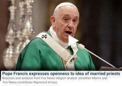 Giáo Hoàng Francis I Cảnh Báo Về Sự Suy Tàn Của Ki-tô Giáo